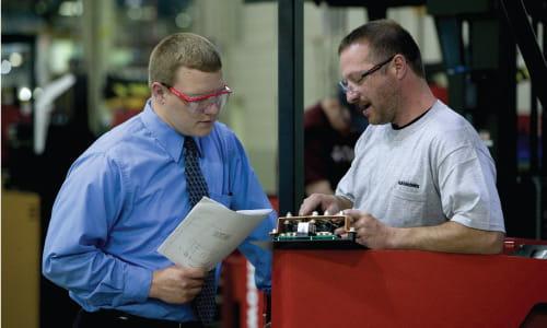 Warehouse Manager Forklift Operator Communication