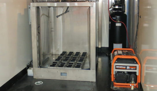 Battery Power Division Cleaning Chamber