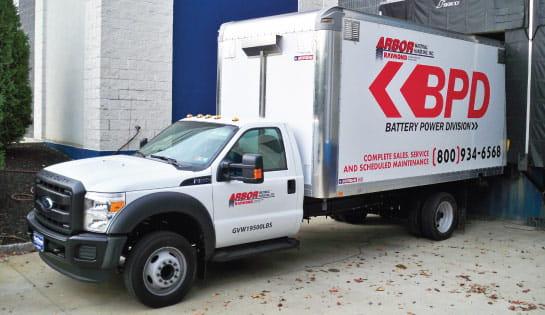 Arbor Battery Power Division Truck