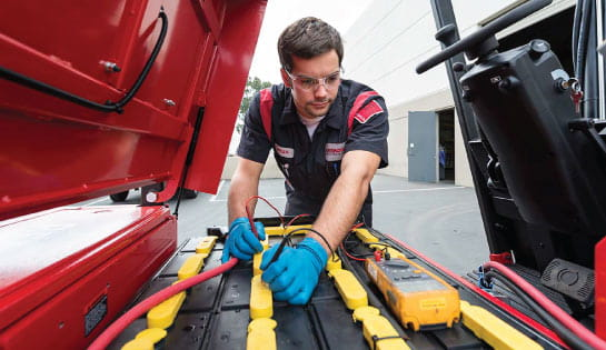 Forklift Battery Maintenance Technician