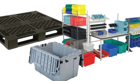 Plastic Pallets Totes and Bins