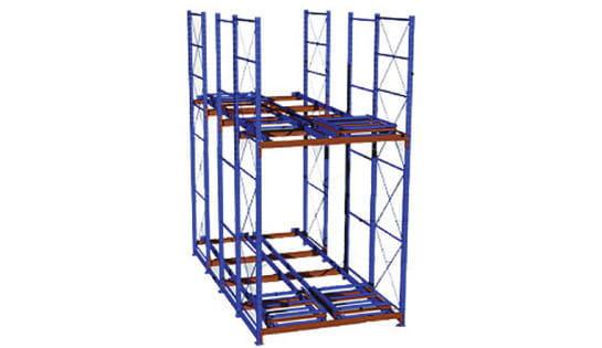 Push Back Racking Application